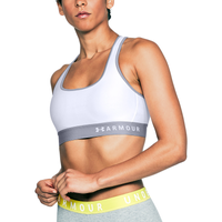 Under Armour Armour Mid Crossback Bra - Women's - White / Grey