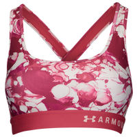 Under Armour Armour Mid Crossback Bra - Women's - Pink
