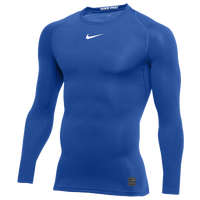 Nike Pro Long Sleeve Compression Top - Men's - Blue