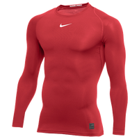 Nike Pro Long Sleeve Compression Top - Men's - Red