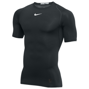 Nike Pro Short Sleeve Compression Top - Men's - Black/White
