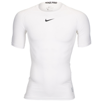 Nike Pro Short Sleeve Compression Top - Men's - White