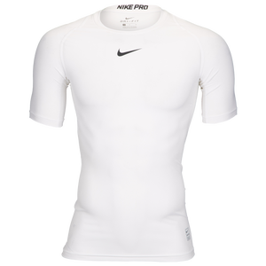 Nike Pro Short Sleeve Compression Top - Men's - White/Black/N/A