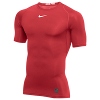 Nike Pro Short Sleeve Compression Top - Men's - Red