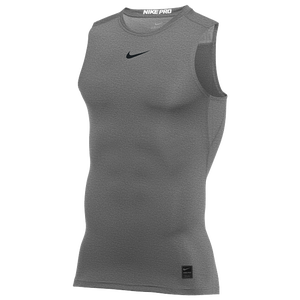Nike Pro Sleeveless Compression Top - Men's - Carbon Heather/Black/N/A