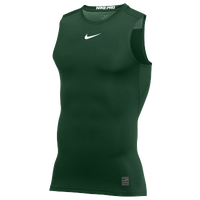 Nike Pro Sleeveless Compression Top - Men's - Green / White