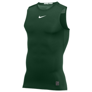 Nike Pro Sleeveless Compression Top - Men's - Gorge Green/White/N/A