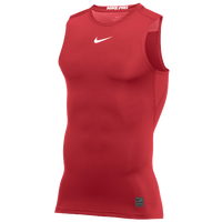 Nike Pro Sleeveless Compression Top - Men's - Red / White