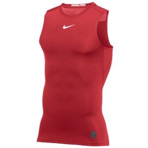 Nike Pro Sleeveless Compression Top - Men's - University Red/White/N/A