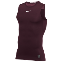 Nike Pro Sleeveless Compression Top - Men's - Maroon