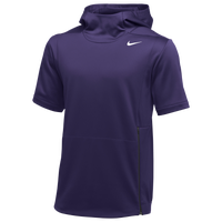 Nike Team Authentic Therma S/S Top - Men's - Purple / Black