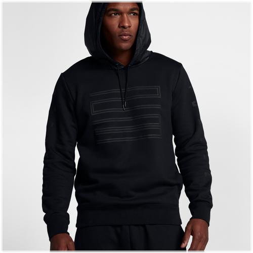 Jordan Retro 11 Hybrid Pullover Hoodie - Men\u0027s - Black / Grey