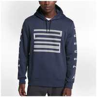 jordan clothing. jordan retro 11 hybrid pull over hoodie - men\u0027s navy / light blue clothing