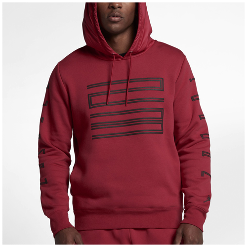 Jordan Retro 11 Hybrid Pullover Hoodie - Men's - Basketball - Clothing -  Gym Red