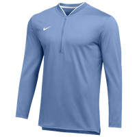 Nike Team Authentic 1/2 Zip Coaches Top - Men's - Light Blue / White