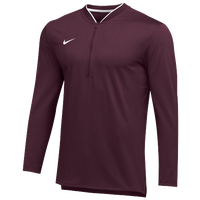 Nike Team Authentic 1/2 Zip Coaches Top - Men's - Maroon / White