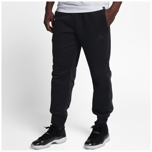 Jordan Retro 11 Hybrid Pants - Men's - All Black / Black