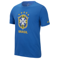 Nike Crest T-Shirt - Men's - Brazil - Blue / Gold