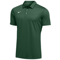 Nike Team S/S Polo - Men's - Green / White
