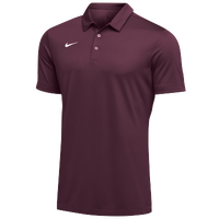 Nike Team S/S Polo - Men's - Maroon / White