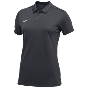 Nike Team S/S Polo - Women's - Anthracite/White