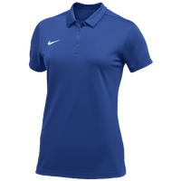 Nike Team S/S Polo - Women's - Blue / White