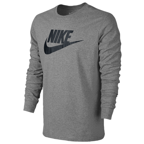 Nike futura icon long sleeve t shirt men 39 s casual for Long sleeve black tee shirts