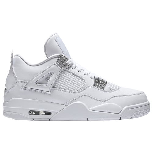Jordan Retro 4 - Men's - Basketball - Shoes - White/Metallic Silver/Pure  Platinum