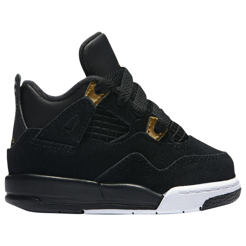Jordan Retro 4 - Boys' Toddler - Basketball - Shoes - Black/Metallic Gold /White