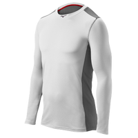 Mizuno Elite Stretch Long Sleeve Top - Men's - White / Grey