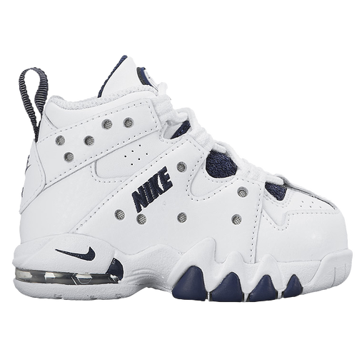 Nike Air Max CB 94 - Boys\u0027 Toddler - Basketball - Shoes - White/Metallic  Silver/Midnight Navy