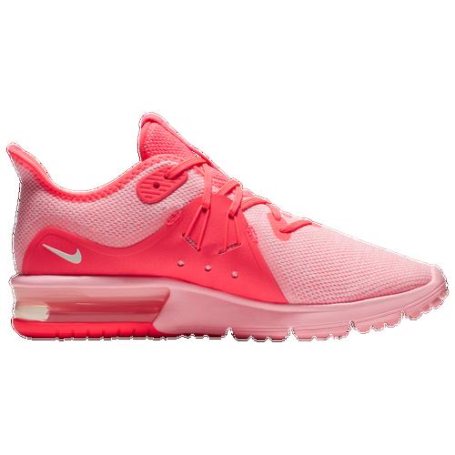 d34c0d3fcba73f Nike Air Max Sequent 3 - Women s - Running - Shoes - Light Bone Volt Hot  Punch