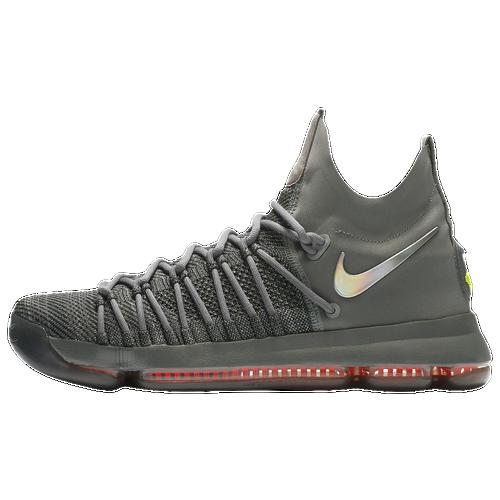 Nike KD 9 Elite - Men's - Kevin Durant - Grey / Red