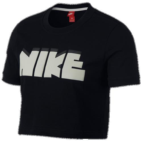 Nike Archive Cropped Bubble T-Shirt - Women's Casual - Black 09184010