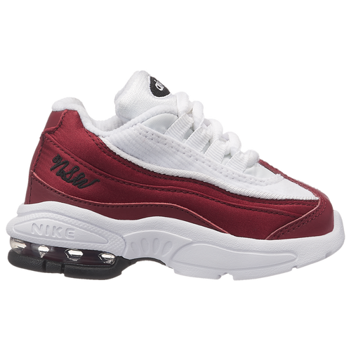d8441afd1e3 Nike Air Max 95 - Girls  Toddler - Nike - Casual - Red Crush Red  Crush White Black