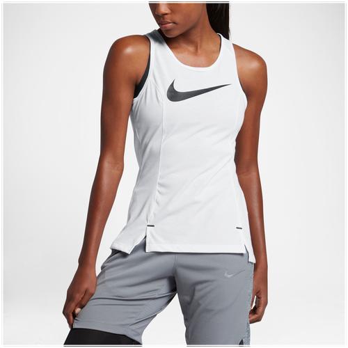 Nike Elite Basketball Tank - Women's Basketball - White/Black 0957100