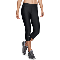 Under Armour HeatGear Armour Capris - Women's - Black / Black