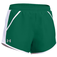 Under Armour Team Fly By Shorts - Women's - Green / White