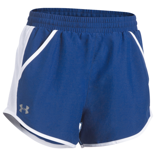 Under Armour Team Fly By Shorts - Women's Basketball - Royal/Reflective 09926400