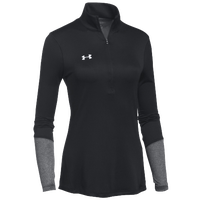 Under Armour Team Locker 1/2 Zip - Women's - Black / Silver