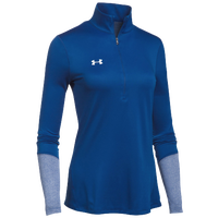 Under Armour Team Locker 1/2 Zip - Women's - Blue / Silver