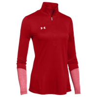 Under Armour Team Locker 1/2 Zip - Women's - Red / Silver