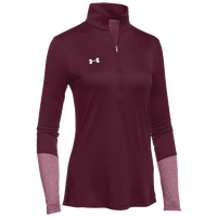 Under Armour Team Locker 1/2 Zip - Women's - Maroon / Maroon