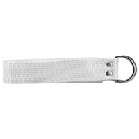 "Athletic Specialties 1"" Web Football Belt - All White / White"