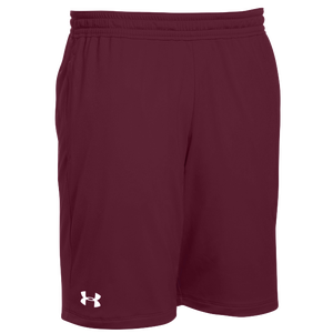 Under Armour Team Pocketed Raid Shorts - Men's - Maroon/White