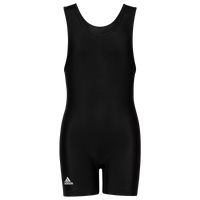 adidas aS101s Solid Wrestling Singlet - Boys' Grade School - Black