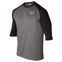 Evoshield 3/4 Team Raglan Shirt - Boys' Grade School - Grey / Black