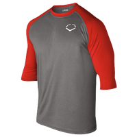 Evoshield 3/4 Team Raglan Shirt - Boys' Grade School - Grey / Red