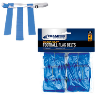 Champro Team Quick Clip Adjustable Flag Belt - Blue / Blue