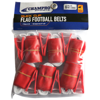 Champro Team Quick Clip Adjustable Flag Belt - Red / Red